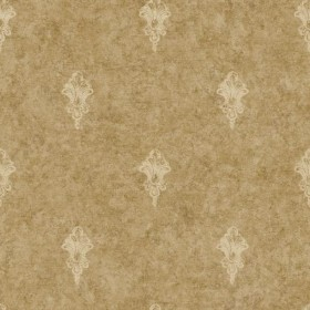 NK2099 Cream Medallion on Metallic Gold Faux Crackle Wallpaper
