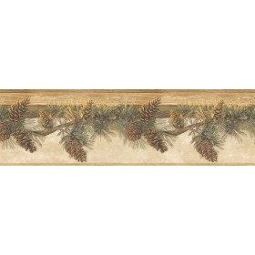 Pomona Maple Pine Hill Wallpaper Border