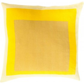 Cube Cutouts Yellow Pillow   TO022-1818D