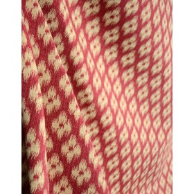 Chester Antique Red Covington Fabric Red & Tan Ikat Fabric