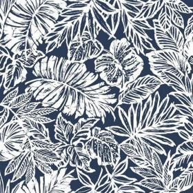 RMK11200RL Tropical Leaf Blue Peel & Stick Wallpaper