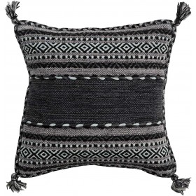 Trenza Pillow with Down Fill in Charcoal | TZ001-2222D