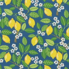 OD Lemon Tree Indigo Waverly PK Lifestyles Fabric