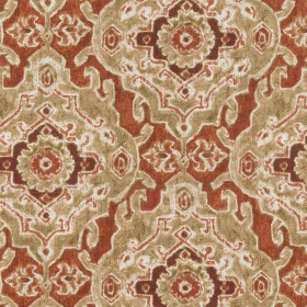 OD Stamped Damask Persimmon Waverly PK Lifestyles Fabric