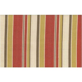 Malibu Stripe Twill Red Hay Multi Laura Kiran Fabric