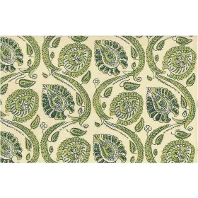 Orissa Print Fresh Greens Laura Kiran Fabric