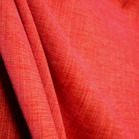 Vermillion 2 Sunset Red Orange Solid Chenille Texture Upholstery Fabric