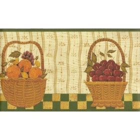 WK74780 Country Fruit Wallpaper Border