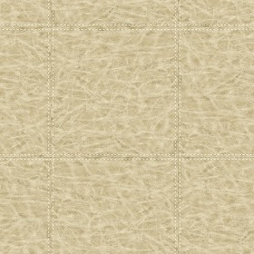 WP0091202 Study Check Beige Leather Wallpaper