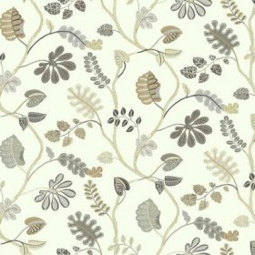 WP2403 A New Leaf Taupe Grey Waverly York Wallpaper