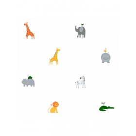 ZB3212 A Day at the Zoo Kids Boy Animal Wallpaper