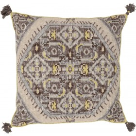 Vintage Heirloom Grey, Tan Pillow | ZP004-3030D