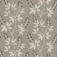 Currant Grey Botanical Trail Wallpaper