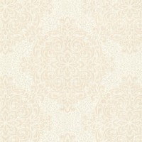 Gabrielle Cream Lace Feature Wallpaper