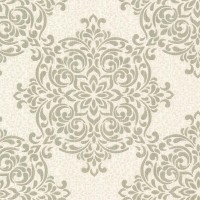 Gabrielle Brass Lace Feature Wallpaper