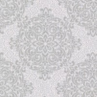 Gabrielle Silver Lace Feature Wallpaper