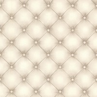 Chesterfield Off-White Tufted Leather Wallpaper