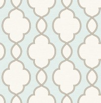 Structure Turquoise Chain Link Wallpaper