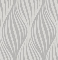 Distinction Charcoal Ogee Wallpaper