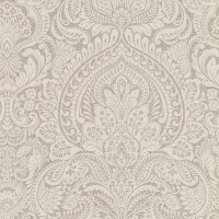 Alistair Flax Damask Wallpaper