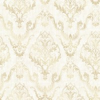 Wiley Cream Lace Damask Wallpaper