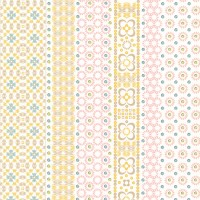 Conta Light Pink Sequin Embroidered Stripe Wallpaper