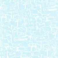 Kasabian Aqua Hillside Village Sketch Wallpaper