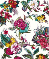 Pareo White Colossal Floral Wallpaper