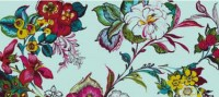 Pareo Aqua Colossal Floral Wallpaper