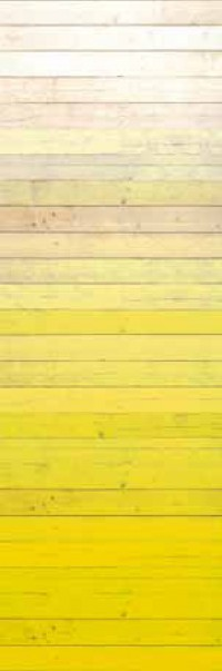 Degrado Yellow Ombre Painted Wood Wallpaper
