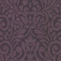 Luxor Magenta Holographic Damask Wallpaper
