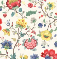 Epona Cream Floral Fantasy Wallpaper