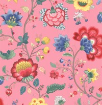 Epona Pink Floral Fantasy Wallpaper