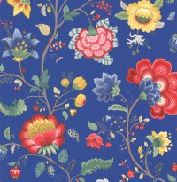 Epona Dark Blue Floral Fantasy Wallpaper
