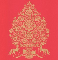 Till Red President Damask Wallpaper