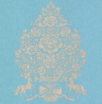 Till Ocean President Damask Wallpaper