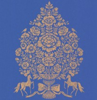 Till Dark Blue President Damask Wallpaper