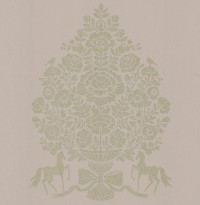 Till Light Grey President Damask Wallpaper