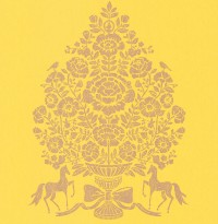 Till Yellow President Damask Wallpaper