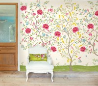 White Morning Glory Wallpaper Mural