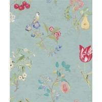375022 Danique Teal Garden Wallpaper