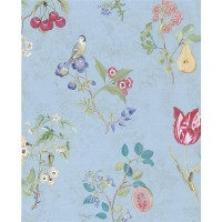 375024 Danique Light Blue Garden Wallpaper