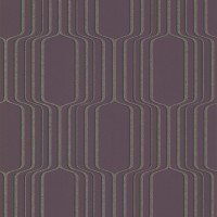 Vina Purple Square Ogee Wallpaper