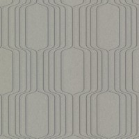 Vina Grey Square Ogee Wallpaper