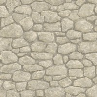 Camelot Grey Faux Boundary Stone Wallpaper