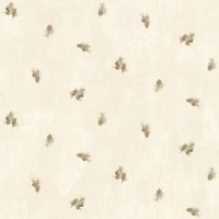 Welsh Cream Pinecone Toss Wallpaper