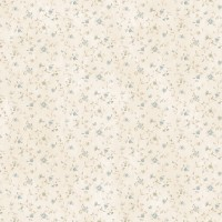 Shelby Blue Calico Floral Wallpaper