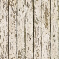 Grendel White Faux Weathered Wood Wallpaper