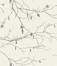 NR1524 White Off Whites Winter Branches Wallpaper