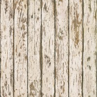 Genley White Faux Weathered Wood Wallpaper